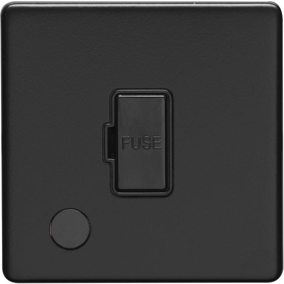 Eurolite Concealed Matt 13A Fused Unswitched Spur with Flex Outlet (ECMBUSWFFOB)