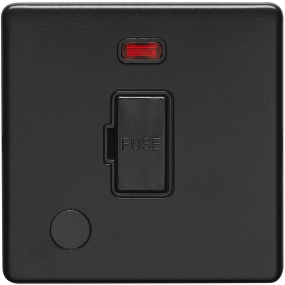 Eurolite Concealed Matt 13A Fused Unswitched Spur with Flex Outlet and Neon (ECMBUSWFNFFOB)