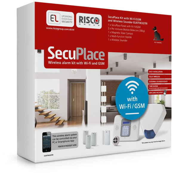 Risco SecuPlace PLUS Kit: Wi-Fi & GSM with Tri bell (ELKITW2GTRI)