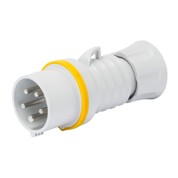Gewiss Yellow Male Connector IP44/IP54 32A 2P+E 100-130V (GW60012H)