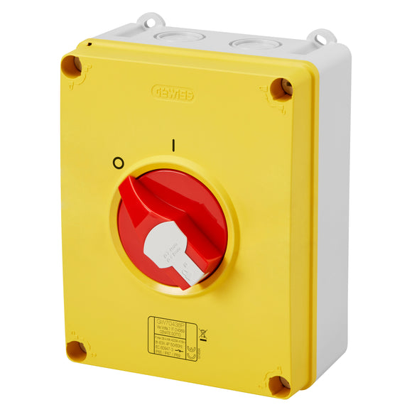Gewiss 63A 4 Pole Emergency Rotary Isolator (GW70438)