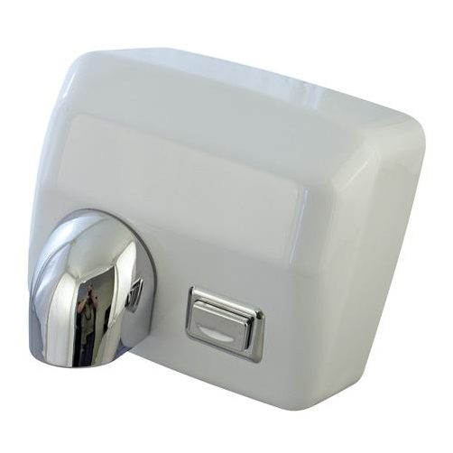 Heavy Duty 2.5kW Push Button Hand Dryer - White (HDM25PWHI)