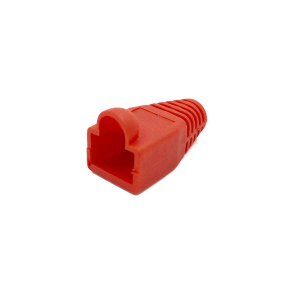 Soft Rubberised Boots for RJ45 Plug x 10 (Red)