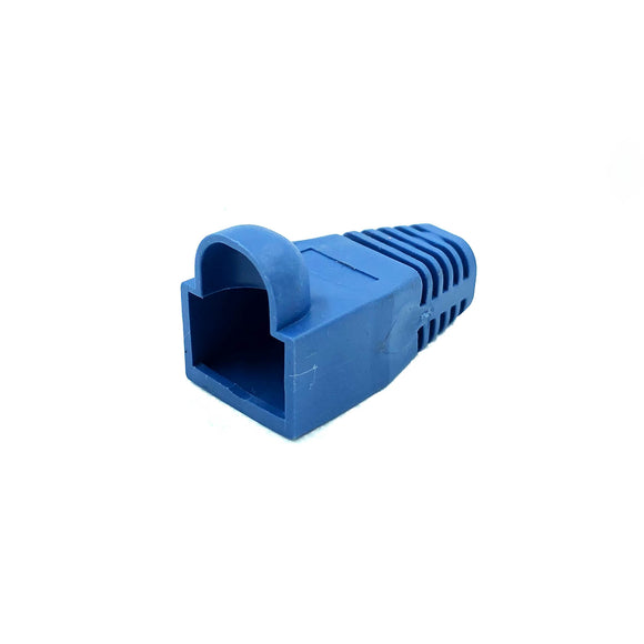 Soft Rubberised Boots for RJ45 Plug x 10 (Blue)