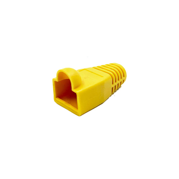 Soft Rubberised Boots for RJ45 Plug x 10 (Yellow)