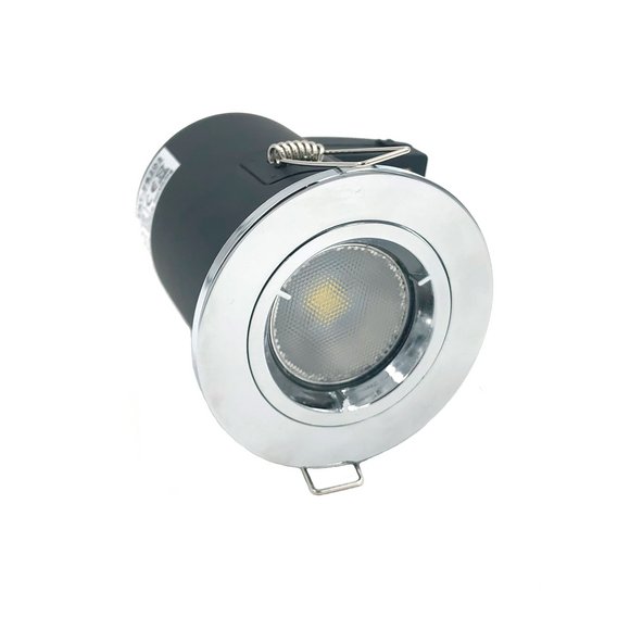 Fixed Fire-rated Downlight 230-240V (Twist Lock) - Chrome