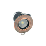 Fixed Fire-rated Downlight 230-240V (Twist Lock) - Copper