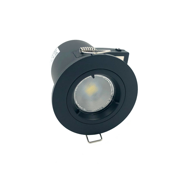 Fixed Fire-rated Downlight 230-240V (Twist Lock) - Matte Black