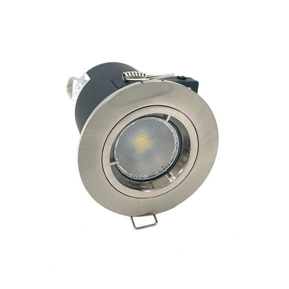 Fixed Fire-rated Downlight 230-240V (Twist Lock) - Satin Chrome