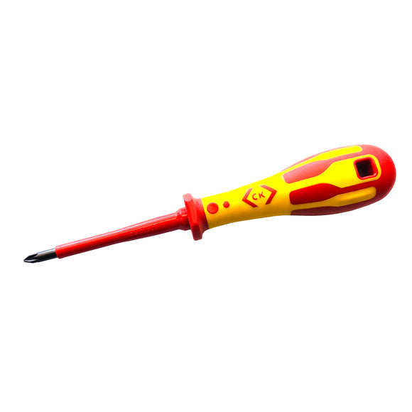 CK Tools 1000V 80mm Dextro VDE PZ1 Screwdriver (T49143-1)