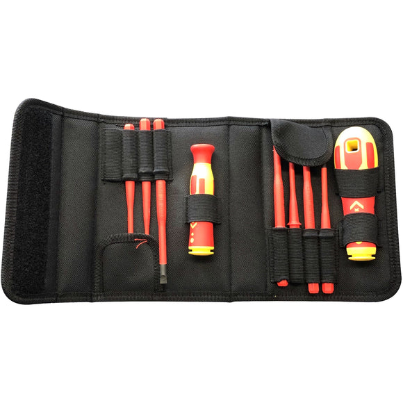 CK Tools 1000V VDE Interchangeable Slim Bladed Screwdriver Set (T4925)