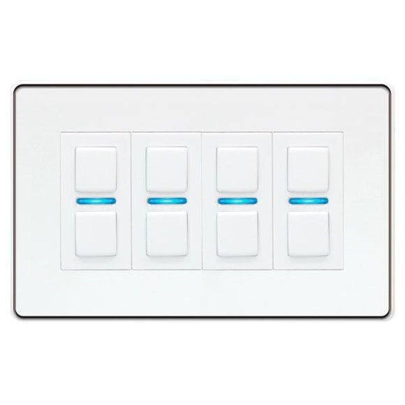 LightwaveRF 4G Smart Dimmer - White Metal (Smart Series)