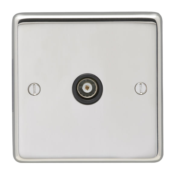 Eurolite Polished Stainless Steel Television Outlet (PSS1TVB) - BBEW