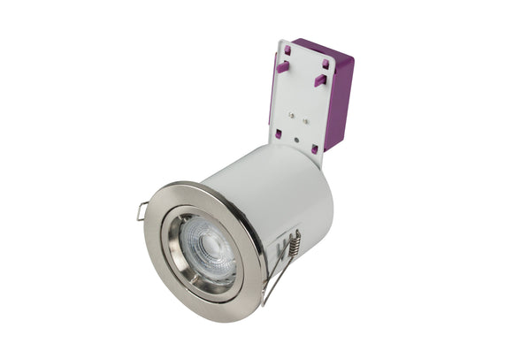 Starling Fire-rated IP20 Downlight 230V - Satin Chrome (ROBRFS201-13)
