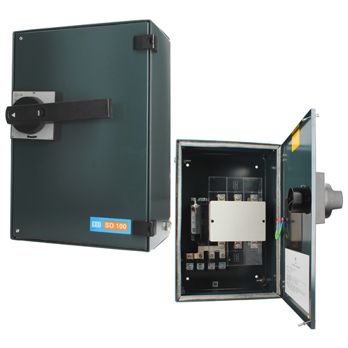 CED 100A Isolator TPN Steel Enclosure