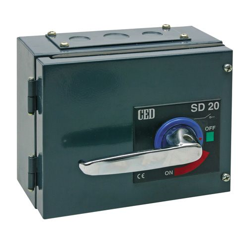 CED 20A Isolator TPN Steel Enclosure