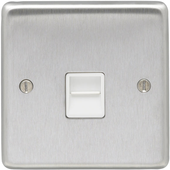 Eurolite Satin Stainless Steel Slave Telephone Socket (SSS1SW)