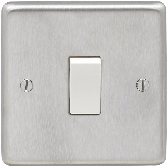 Eurolite Satin Stainless Steel 1 Gang 2 Way 10AX Switch (SSS1SWW)