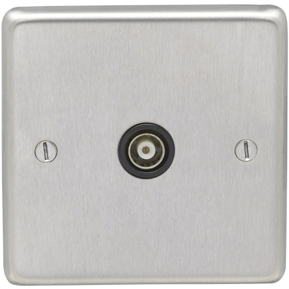 Eurolite Satin Stainless Steel Television Outlet (SSS1TVB)