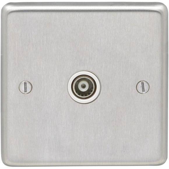 Eurolite Satin Stainless Steel Television Outlet (SSS1TVW)
