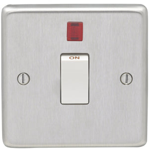 Eurolite Satin Stainless Steel 20AX DP Control Switch with Neon (SSS20ASWNW)