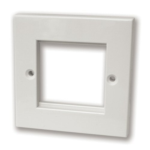 1G Twin Module White Faceplate