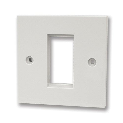 1G Single Module White Faceplate