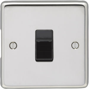 Eurolite Polished Stainless Steel 1 Gang 2 Way 10AX Switch (XPSS1SWB) - BBEW