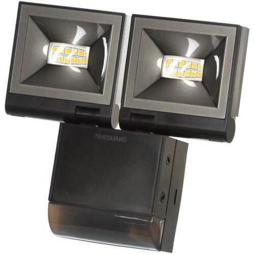 Timeguard 2 x 10W LED Compact PIR Floodlight Twin Flood Black (LED200PIRBE) - BBEW