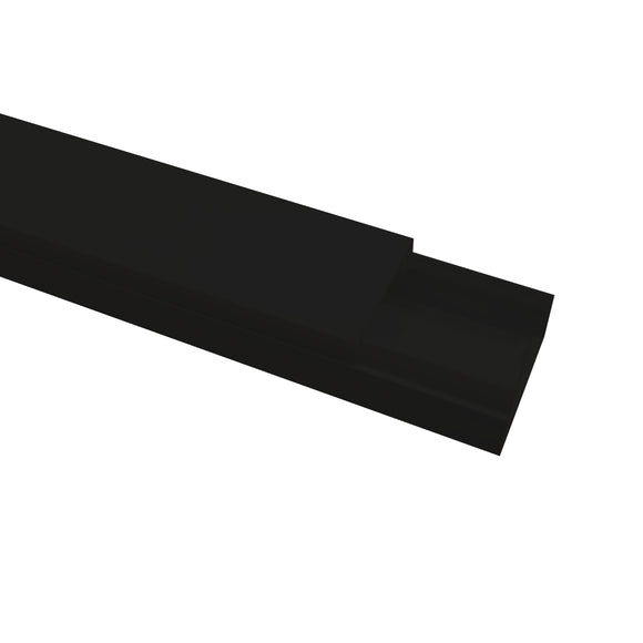 Self Adhesive Mini Trunking 16mm x 25mm x 3m - Black (MT2BLACK)