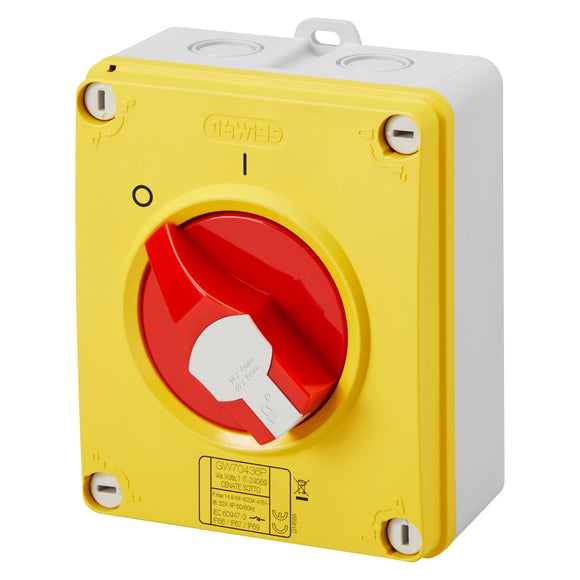 Gewiss 32A 3 Pole Emergency Rotary Isolator (GW70435P)