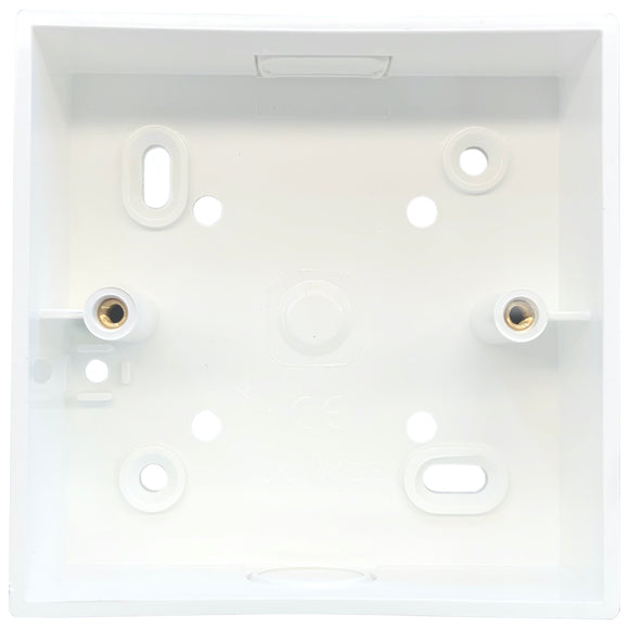 1G PVC Surface Mounted Box - Square Corners (SPR1)