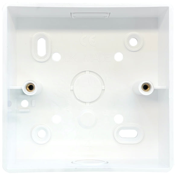 1G PVC Surface Mounted Box - Rounded Corners (SPR3)