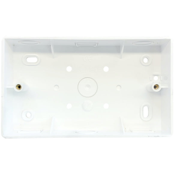 2G PVC Surface Mounted Box - Rounded Corners (SPR4)