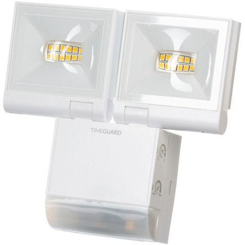 Timeguard 2 x 10W LED Compact PIR Floodlight Twin Flood White (LED200PIRWHE) - BBEW