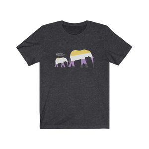 Nonbinary Elephants Jersey Short Sleeve Tee