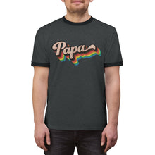 Load image into Gallery viewer, LGBTQ+ Papa - Unisex Ringer Tee