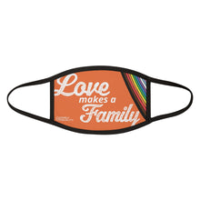 Load image into Gallery viewer, Love Makes a Family: Mixed-Fabric Face Mask
