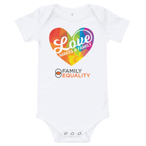 "Baby Short-Sleeve Onesie - ""Love Makes a Family"""