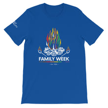 Load image into Gallery viewer, Family Week 2019 Unisex T-Shirt - Bold Colors