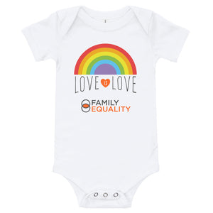 "Baby Short-Sleeve Onesie - ""Love is Love"""