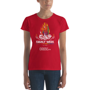Family Week 2019 Fitted Women's T-Shirt - Bold Colors