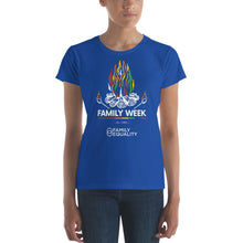 Load image into Gallery viewer, Family Week 2019 Fitted Women's T-Shirt - Bold Colors