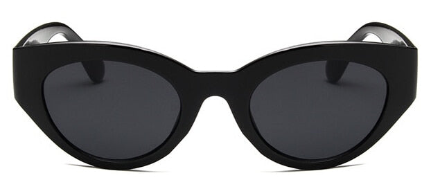 Black Frame - Black Lens Cat Eye Sunglasses