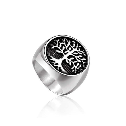 Tree of Life Silver Signet Ring