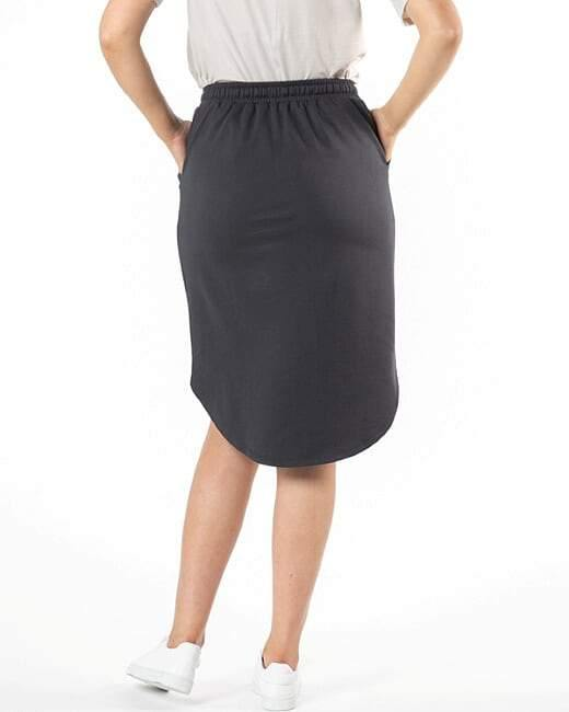 Ellen Skirt-Gunmetal - BETTY BASICS - allaboutagirl