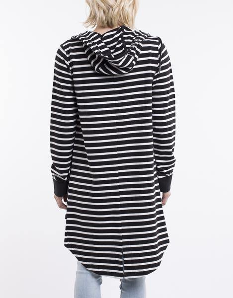 SILENT THEORY Ashleigh Hoody-Black/White Stripe  Due back in on31/3 - allaboutagirl