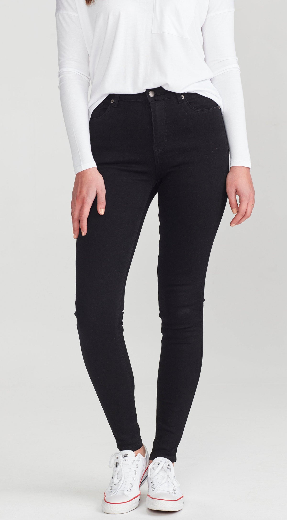 Slip Tall Jean- Black