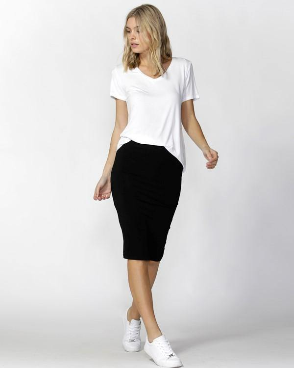 ALICIA MIDI SKIRT-Black
