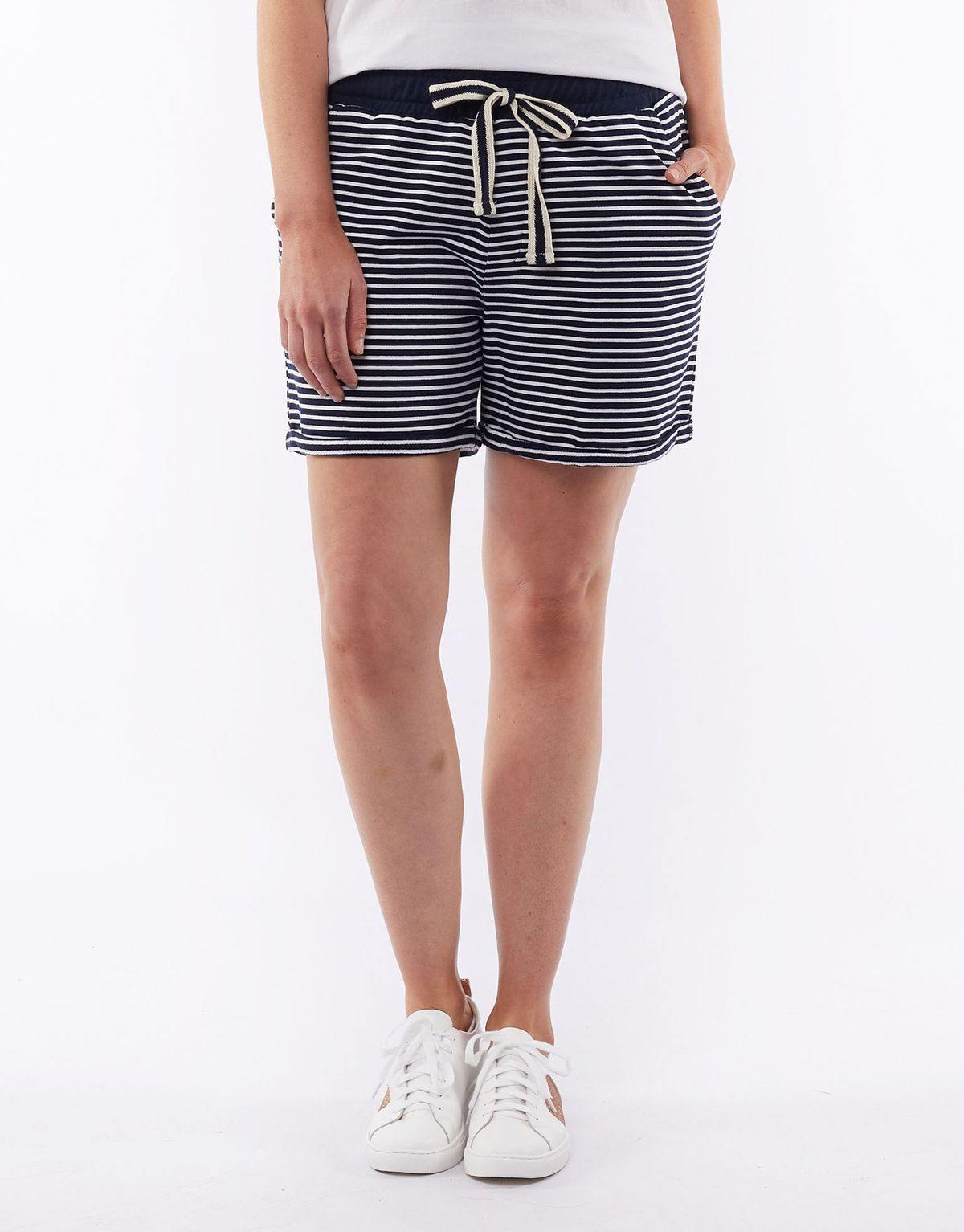 ELM Take a Break Short-N/W Stripe - allaboutagirl